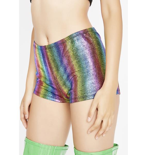 Taste The Rainbow Booty Shorts