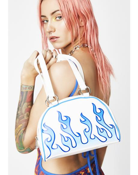 Sapphire Flame Catcher Bowler Bag