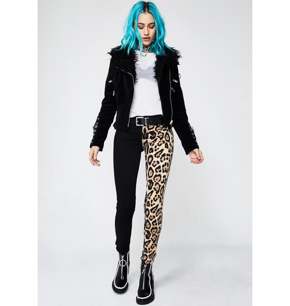 Tripp NYC Leopard Split Leg Pants