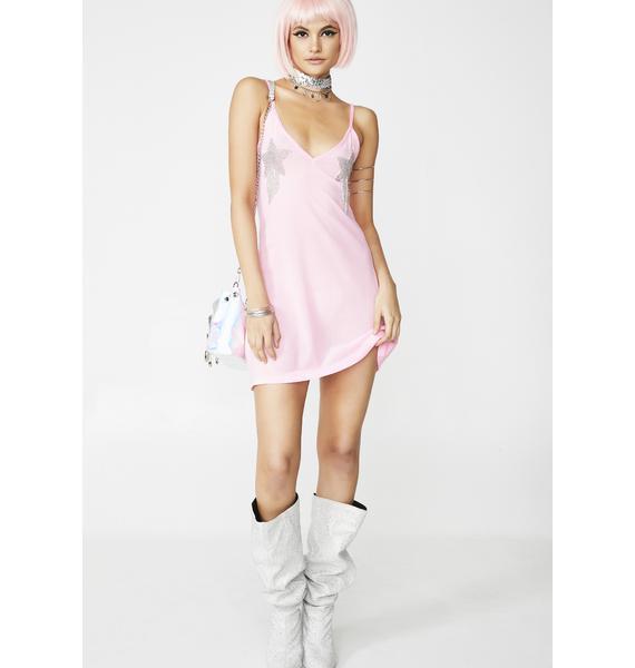 Club Exx Rhinestone Rodeo Slip Dress