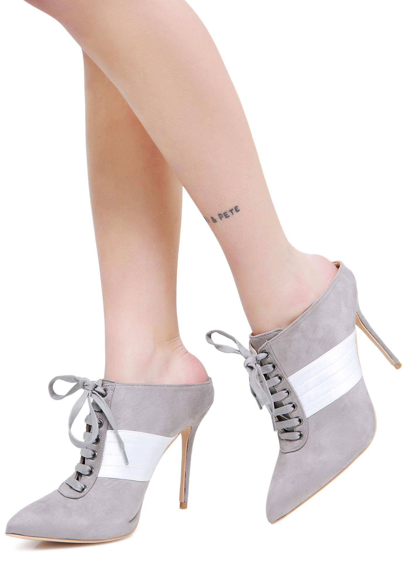 Public Desire Farrah Lace-Up Heels