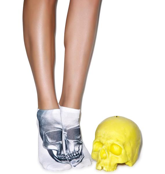 Skull-kin' Around Ankle Socks