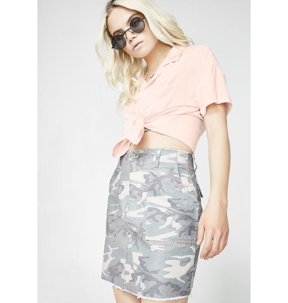 Insight Lucky Thirteen Washed Camo Skirt