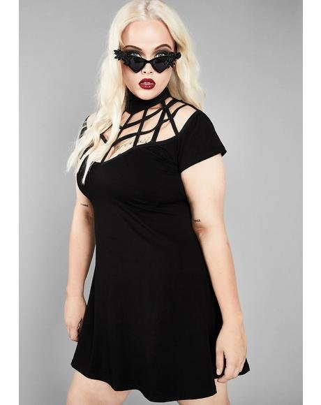 Deep Dark Web A-line Dress