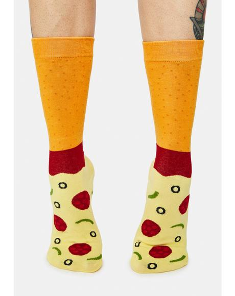 Another Slice Pizza Crew Socks