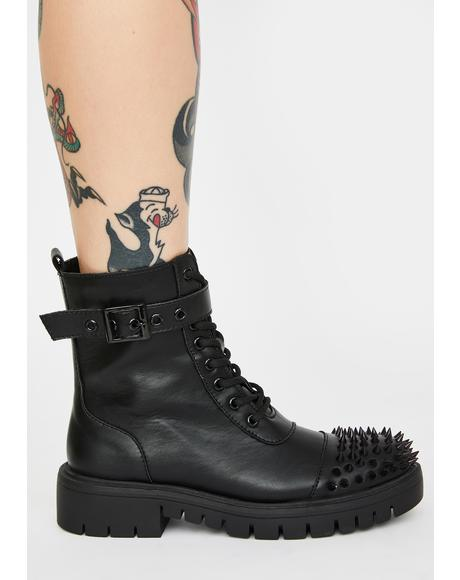 Bite Back Studded Boots