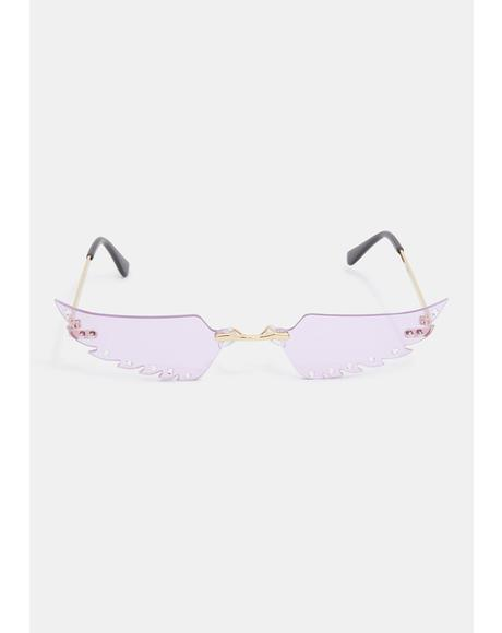Lilac Spread Ur Wing Sunglasses