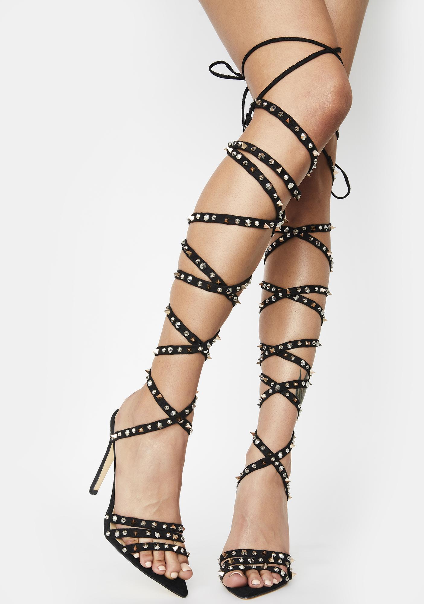AZALEA WANG Niue Wrap Heels