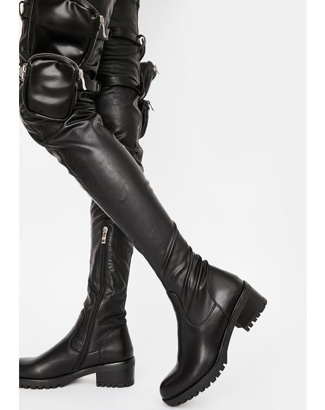 Surgical Utility Thigh High Boots