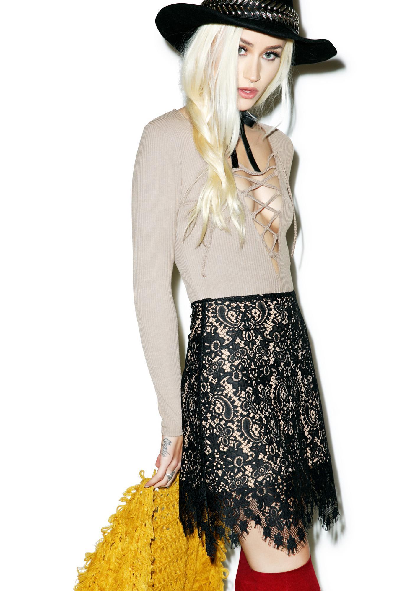 For Love & Lemons Vika Mini Skirt