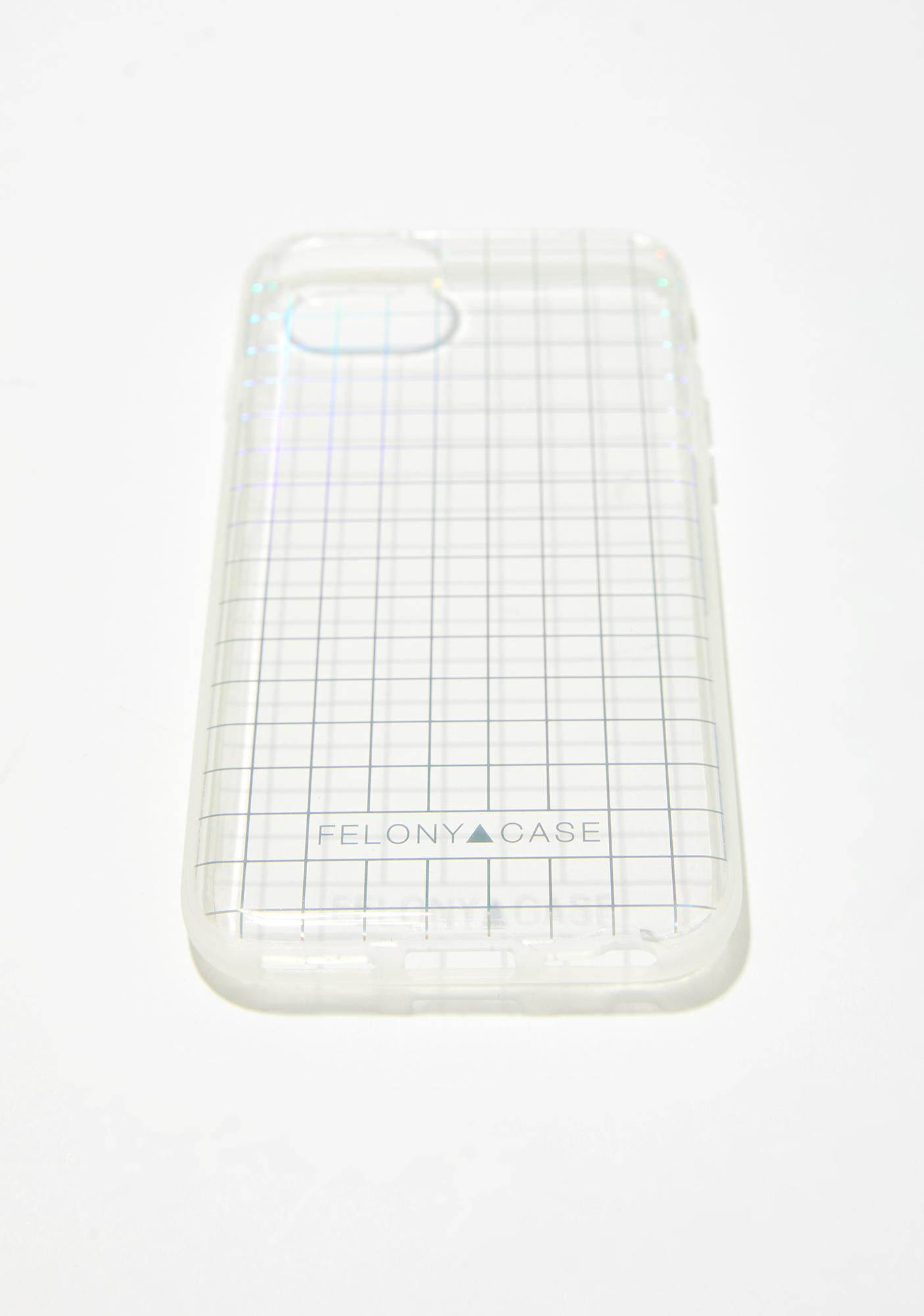 Felony Case Holographic Grid iPhone Case