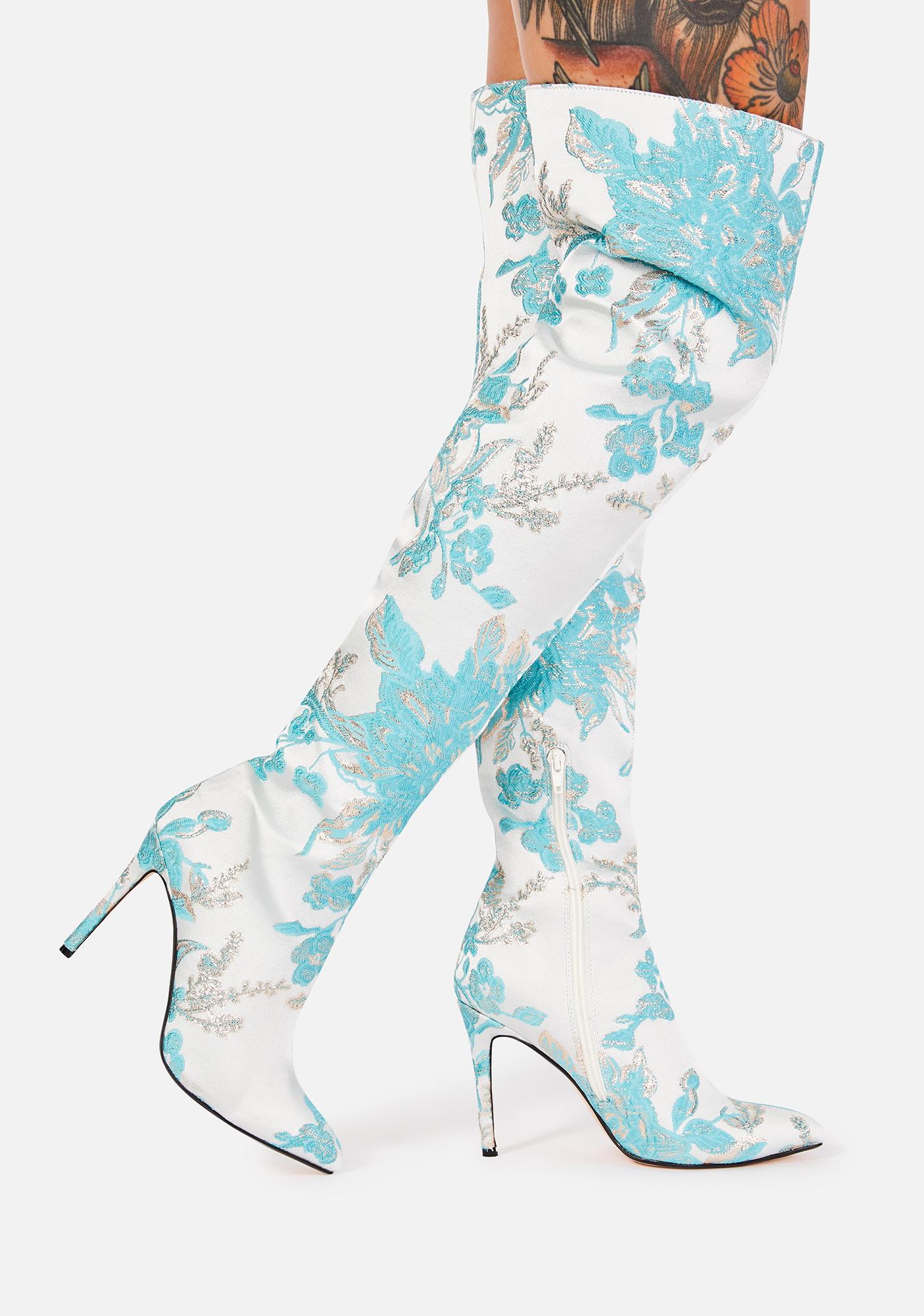 Lemon Drop by Privileged Myles Thigh High Boots