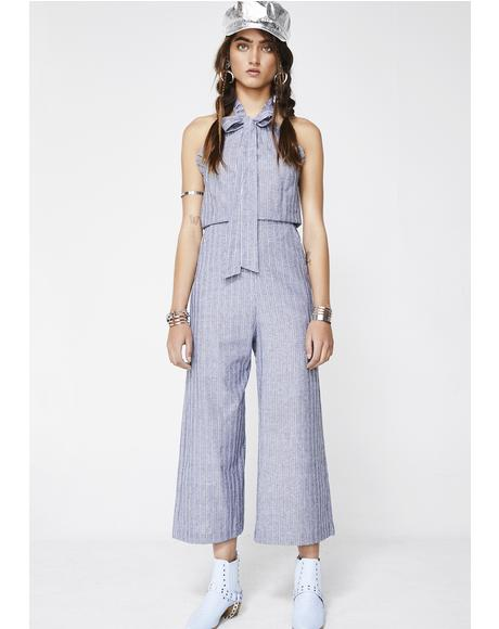 Delicate Heart Bow Jumpsuit