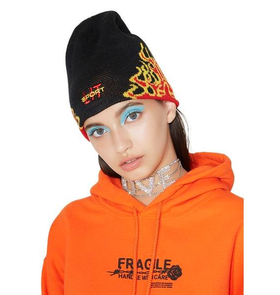 Petals and Peacocks Lit Sport Beanie
