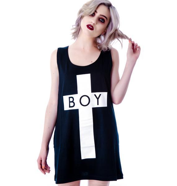 Long Clothing x BOY London Boy Cross Oversized Tank