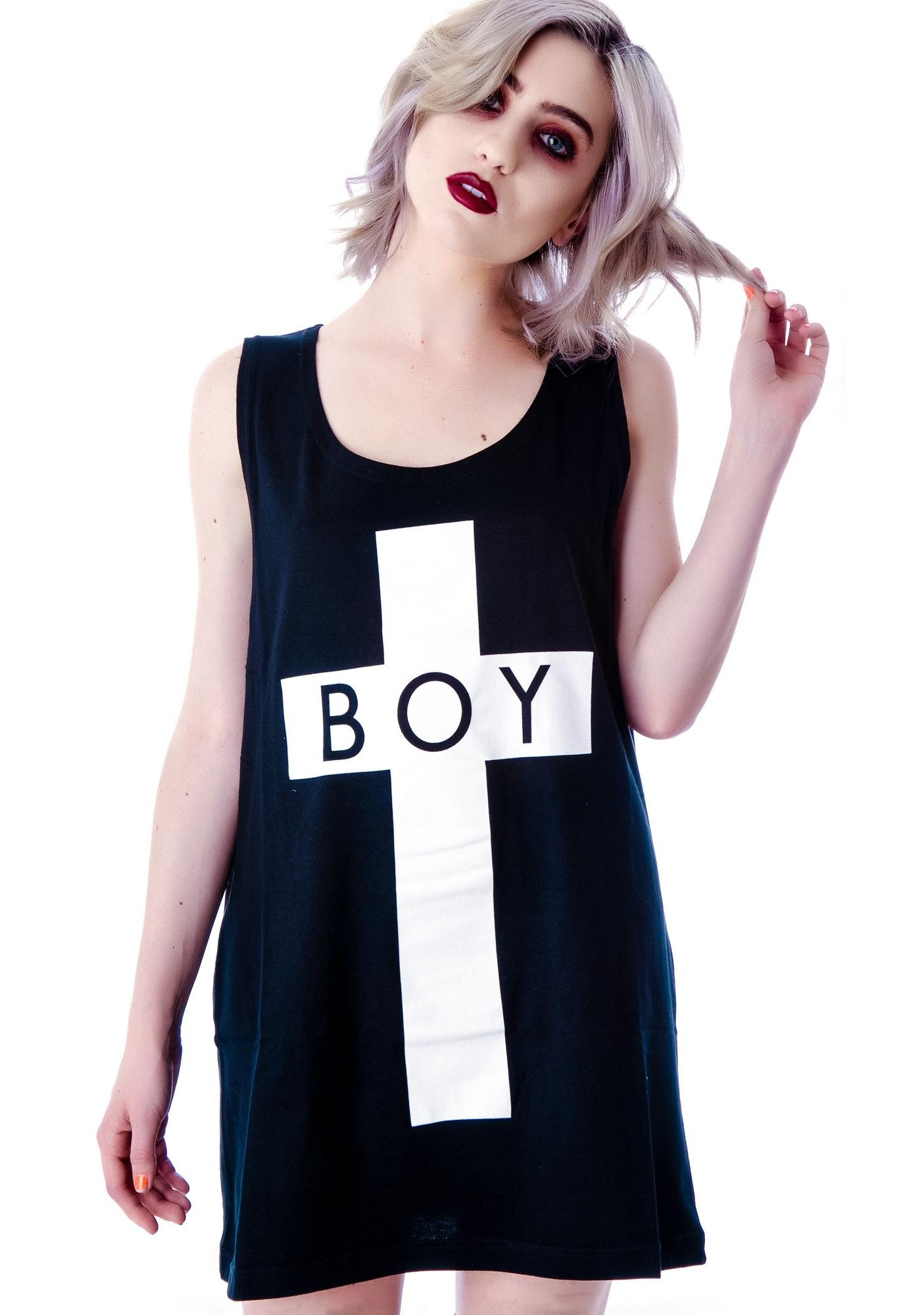 Long Clothing x BOY London Boy Cross Oversized Tank