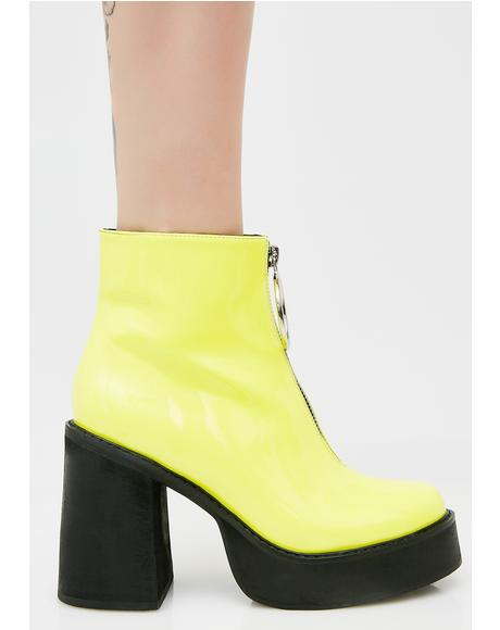 Neon Franky Platform Boots