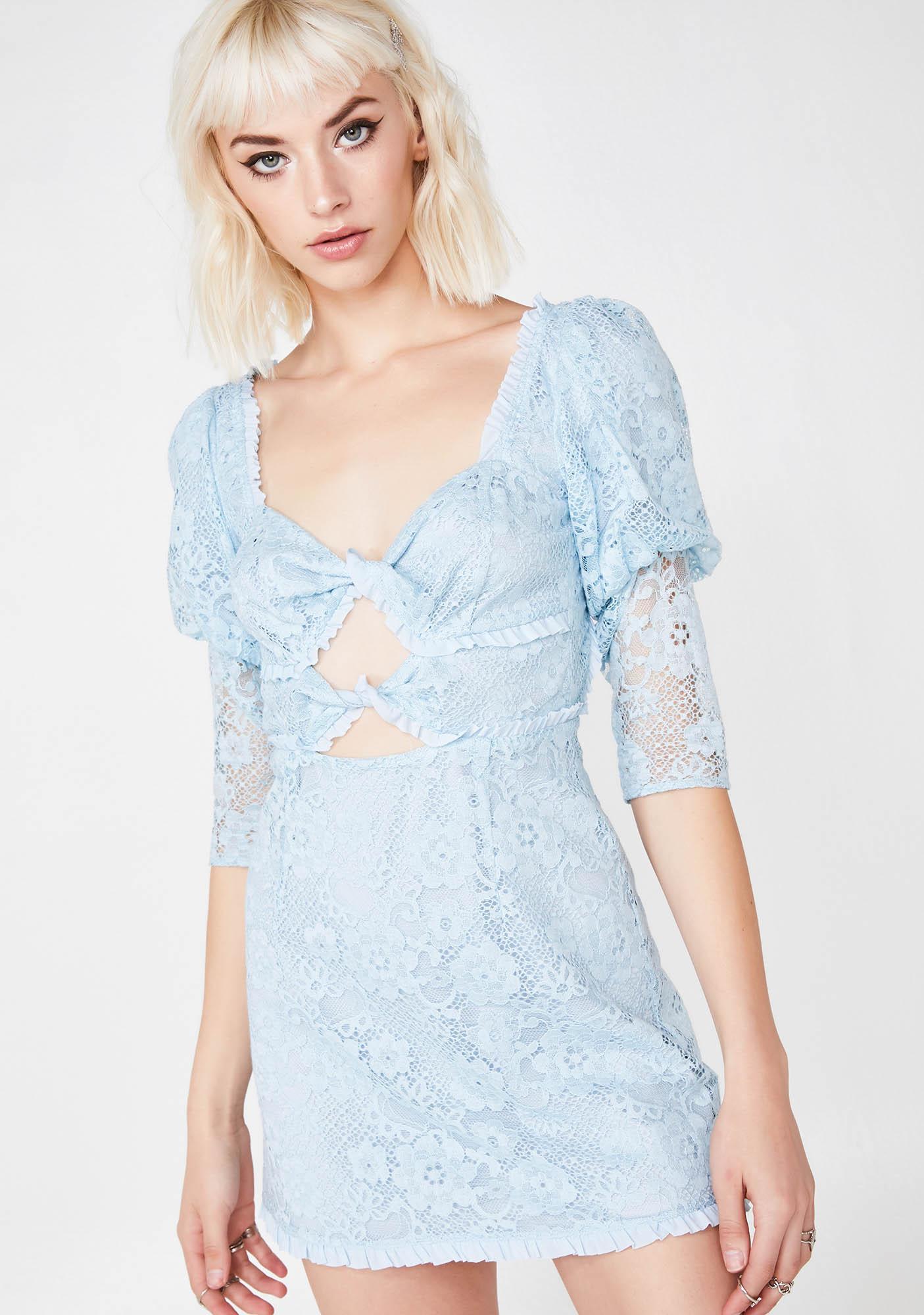 For Love & Lemons Sky Lyla Mini Dress