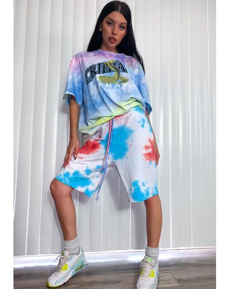 Fest Tie Dye Lounge Shorts