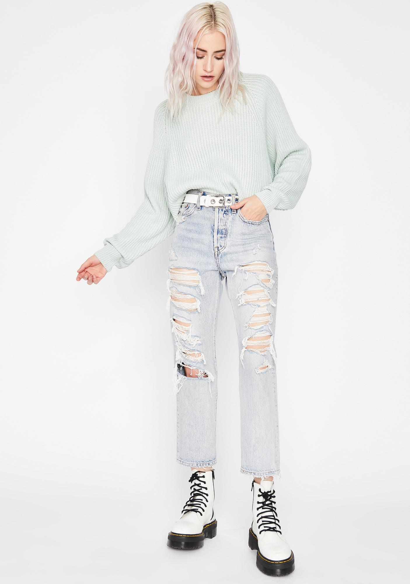 Mint Tender Touch Knit Sweater