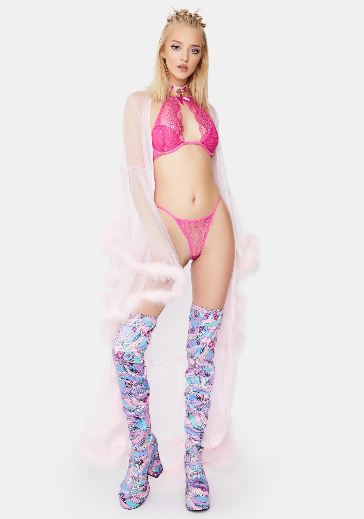 Ask Nicely Lace Lingerie Set