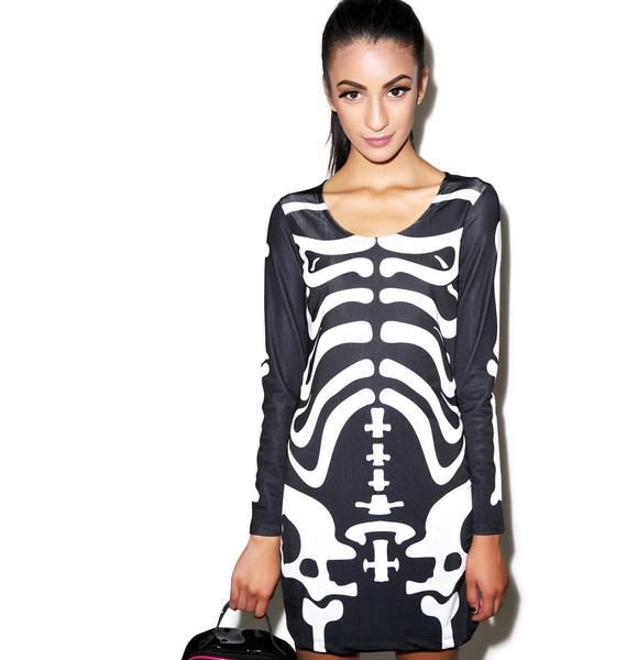 Disturbia Dem Bones Bodycon Dress