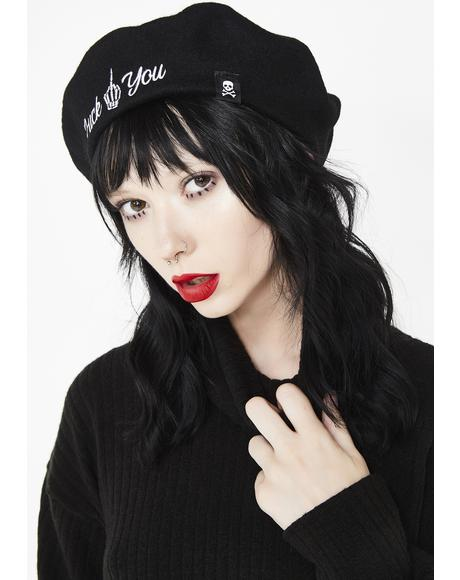 Fuck You Embroidered Beret