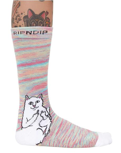 Lord Nermal Neon Socks
