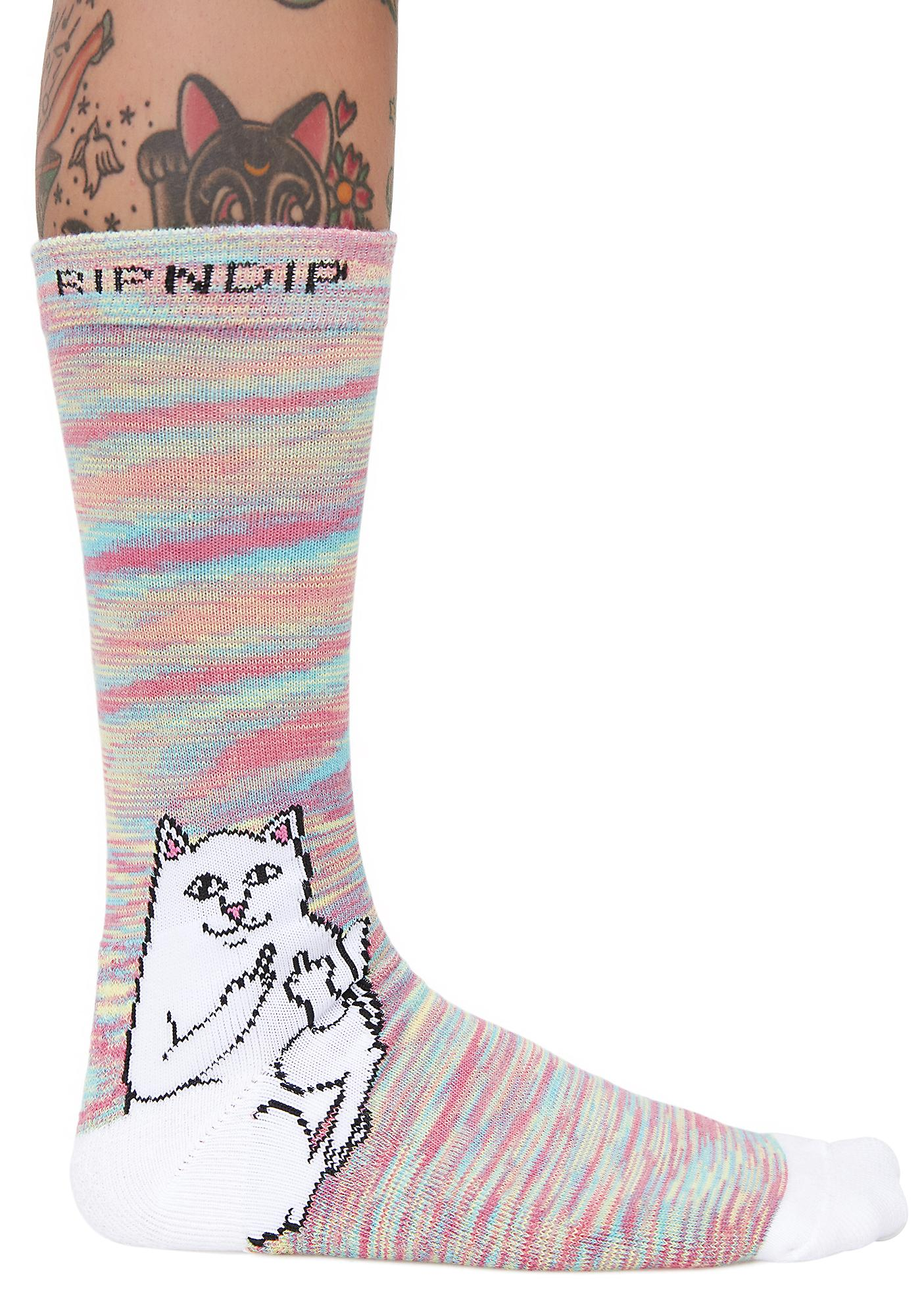 RIPNDIP Lord Nermal Neon Socks