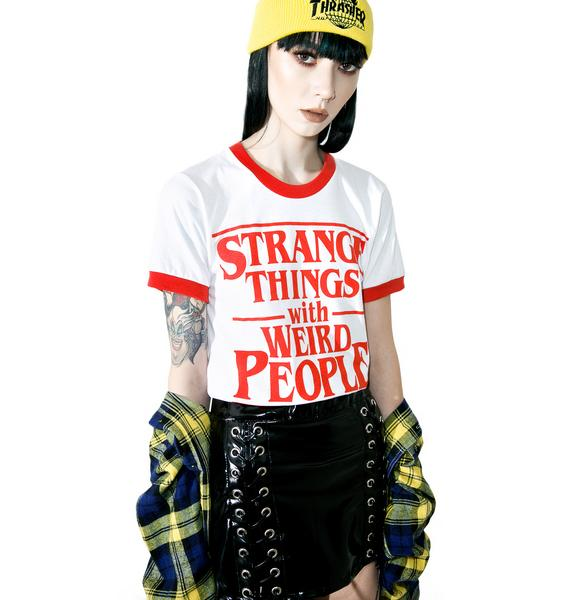 Burger And Friends Strange Things Ringer Tee