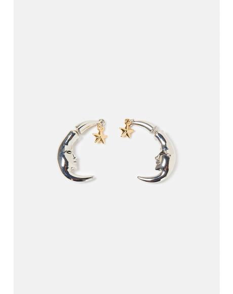 Wish Upon A Moon Stud Earrings