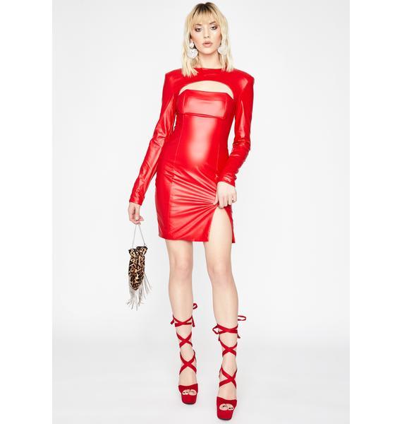 Hot Shot Caller Cut-Out Dress
