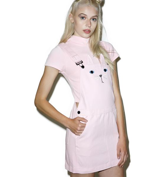 Lazy Oaf Pink Cat A Fore Dress