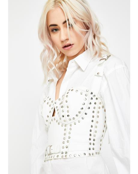 White Rock Mentality Studded Bustier
