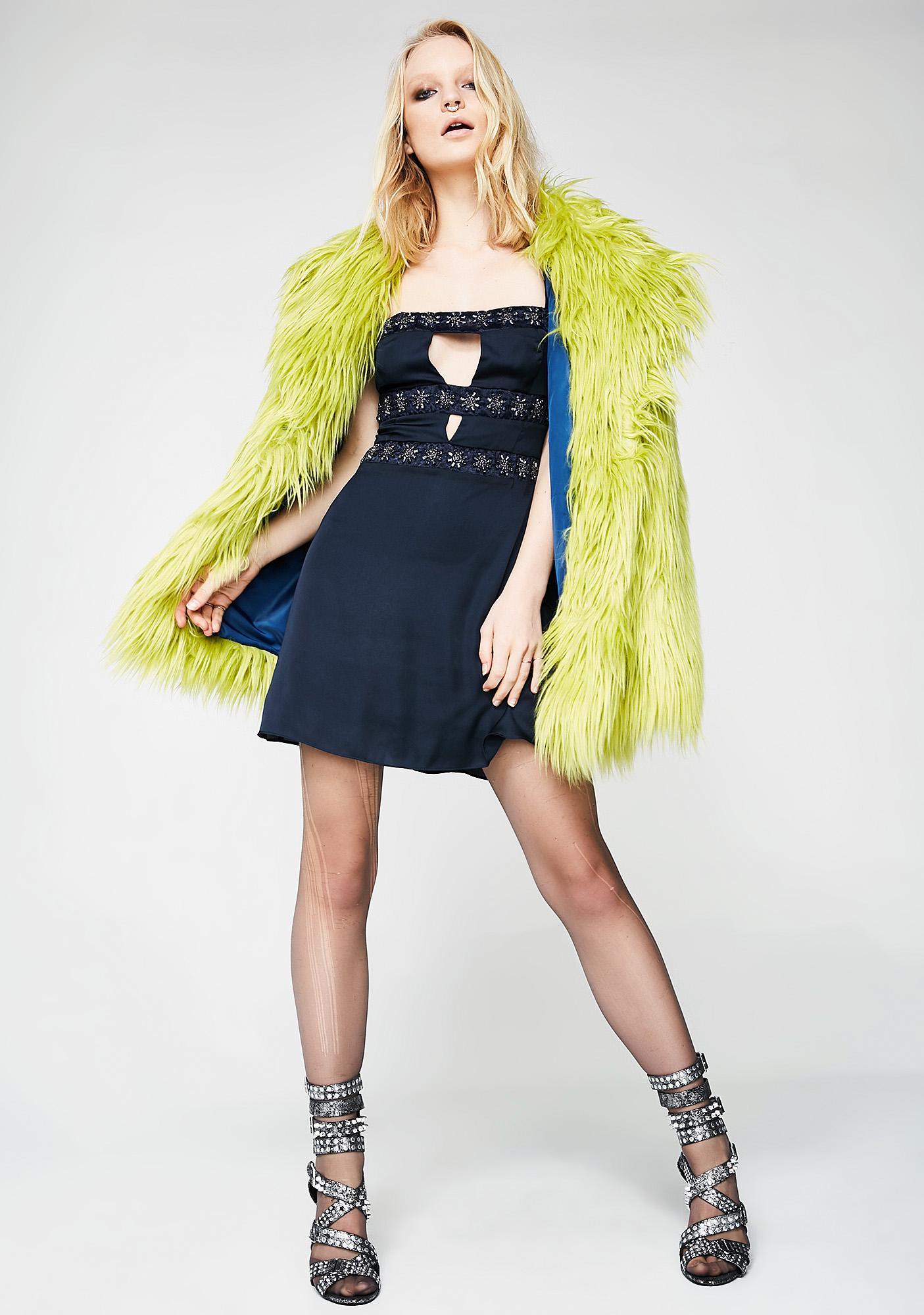 For Love & Lemons Opal Beaded Mini Dress