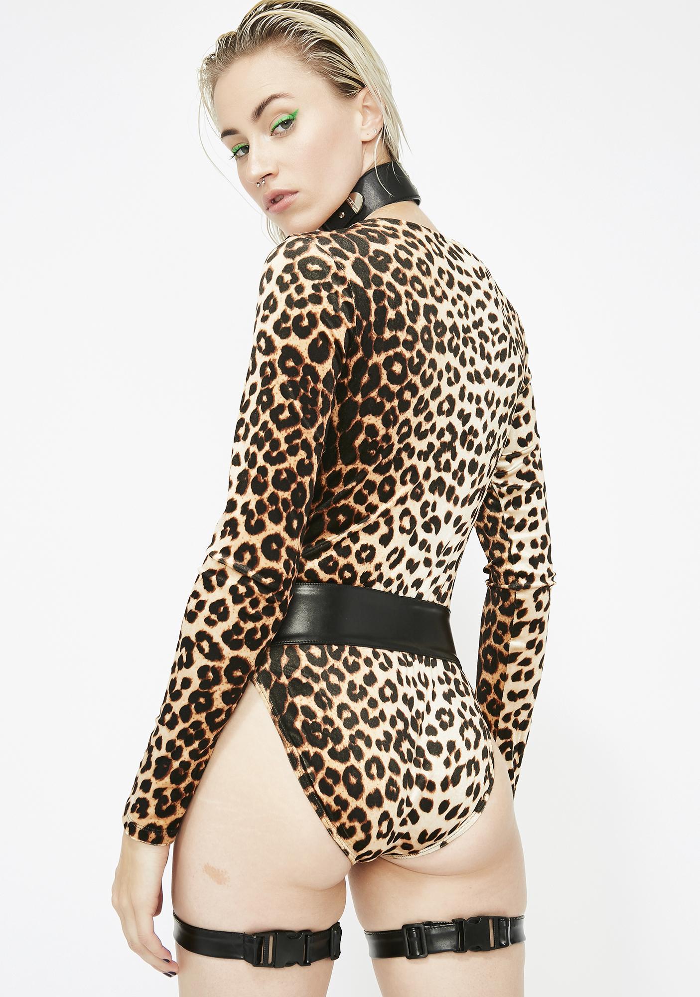 Badd Kitty Velvet Bodysuit N' Harness