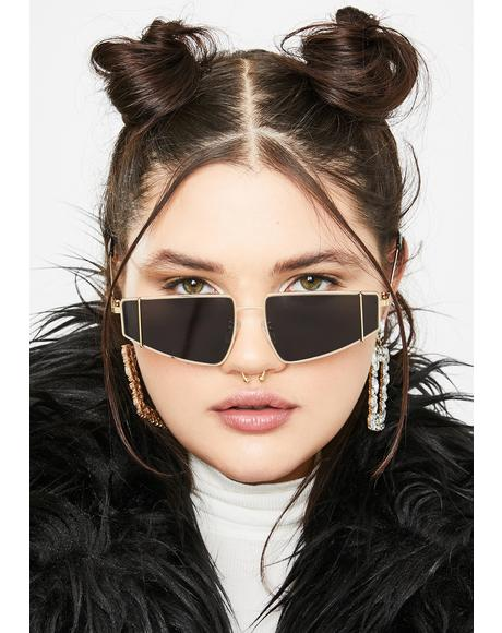 High Authority Rectangle Sunglasses
