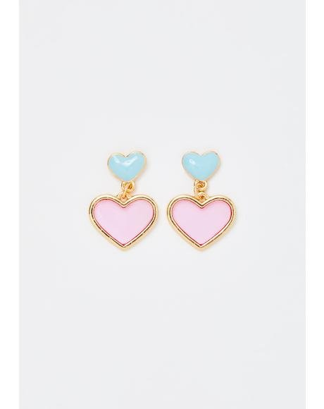 Blossom N' Bubbles Heart Earrings