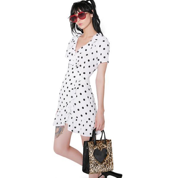 Pearl Lola Ruffled Wrap Dress