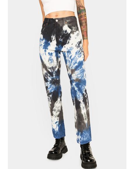 Tie Dye 501 '93 Straight Leg Jeans