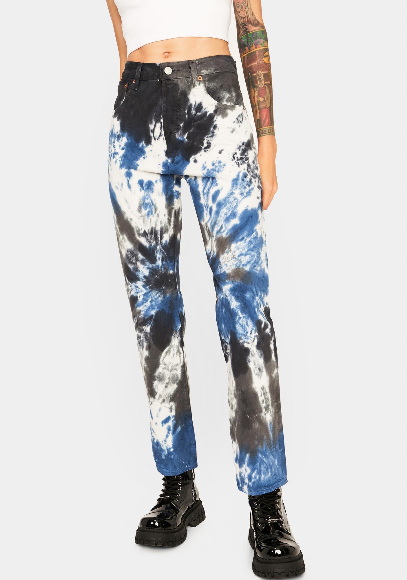 Levis Tie Dye 501 '93 Straight Leg Jeans
