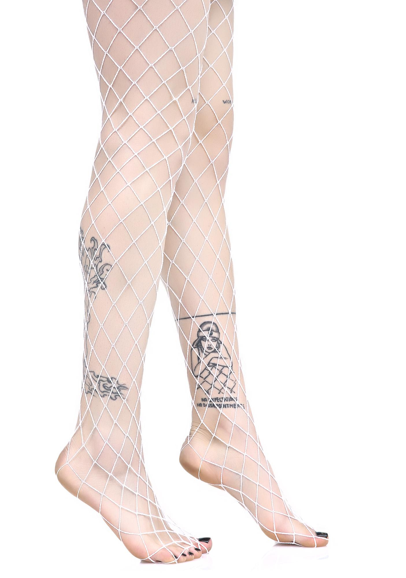 Ice Diamond Doll Fishnet Stockings