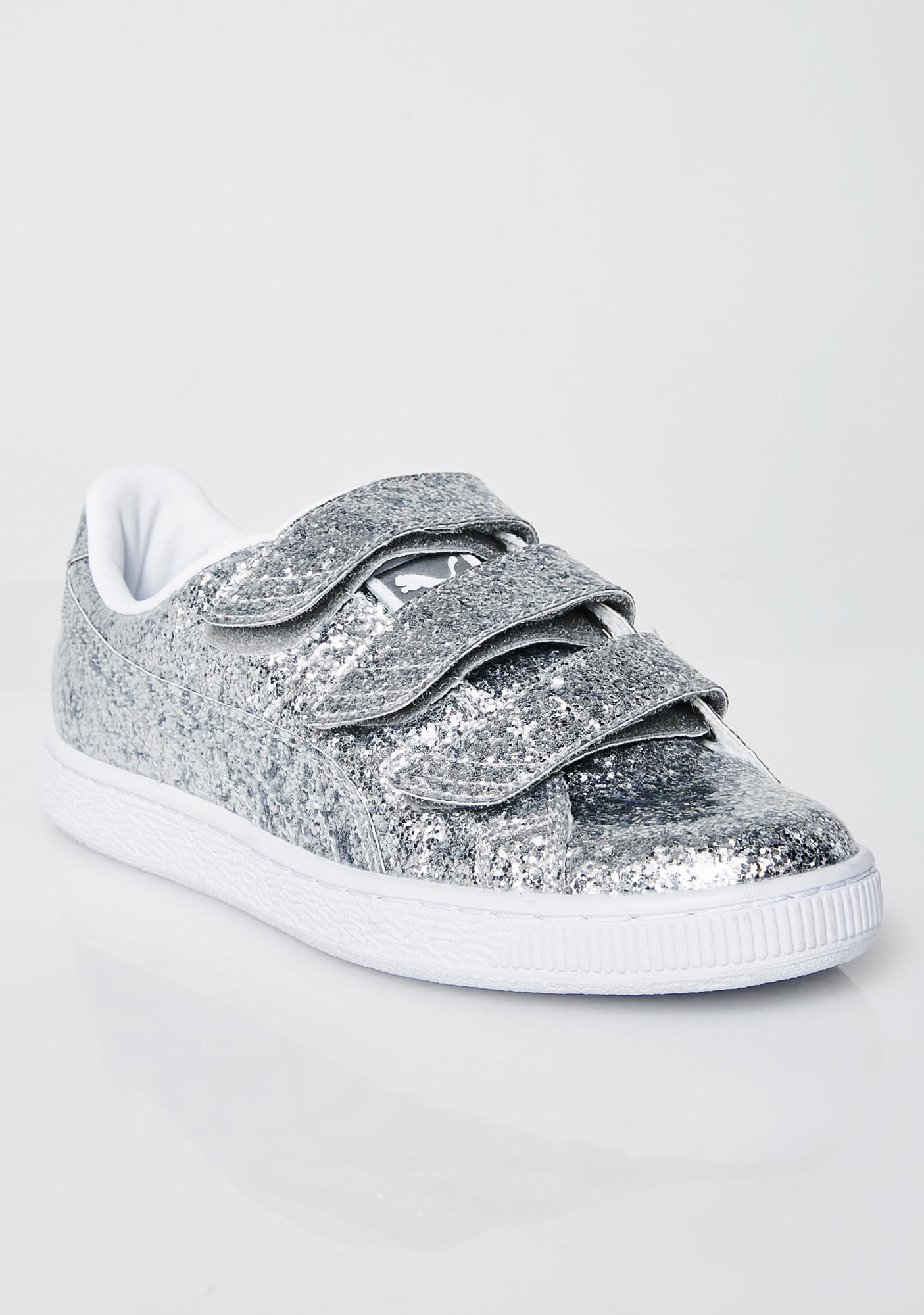 cd74d0983cd ... PUMA Basket Strap Glitter Sneakers