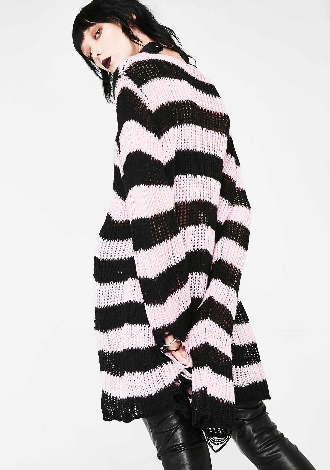 Courtney Distressed Knit Sweater