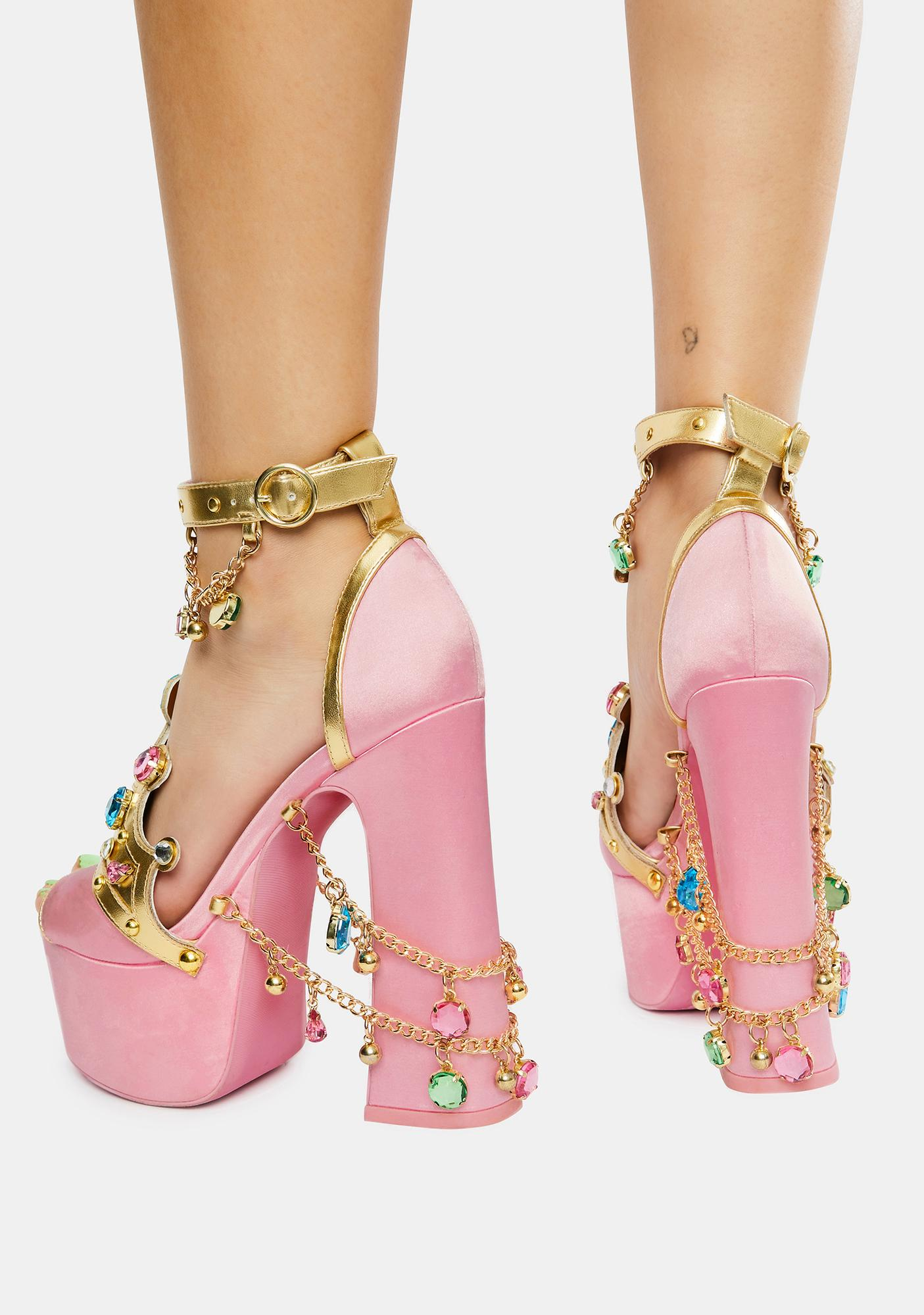 Sugar Thrillz Crowned Charmer Platform Heels