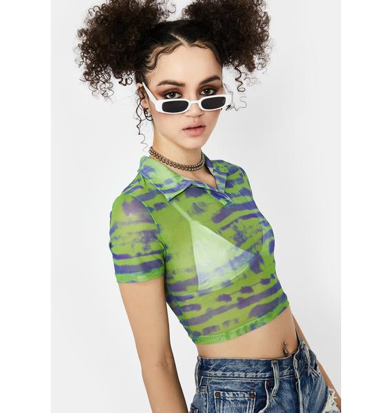 Lime Tough Competition Mesh Top