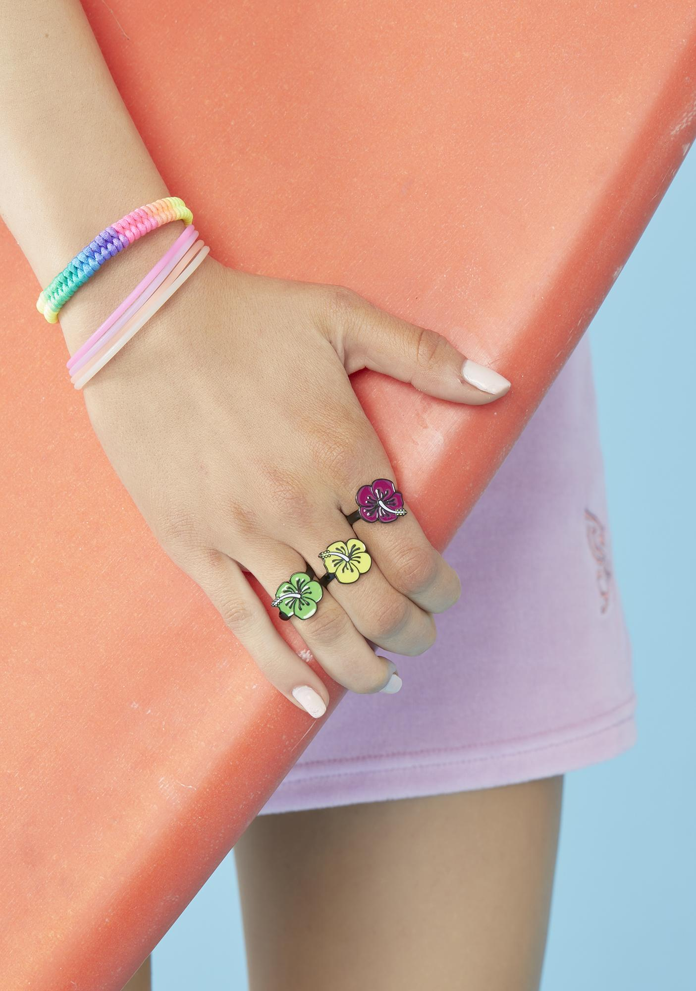 Hot Tropics Ring Set