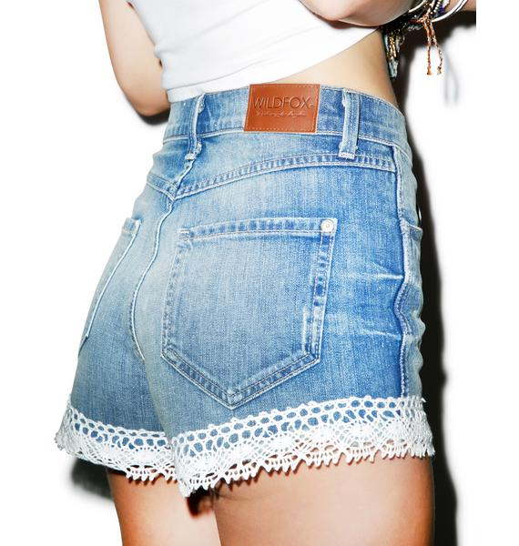 Wildfox Couture Shabby Lace Shorts