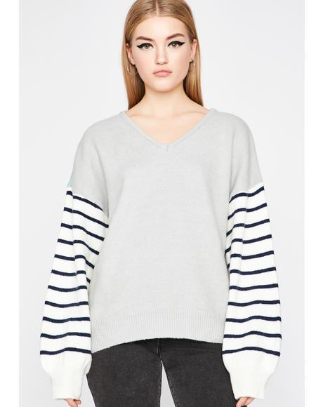 Cozy Life Striped Sweater