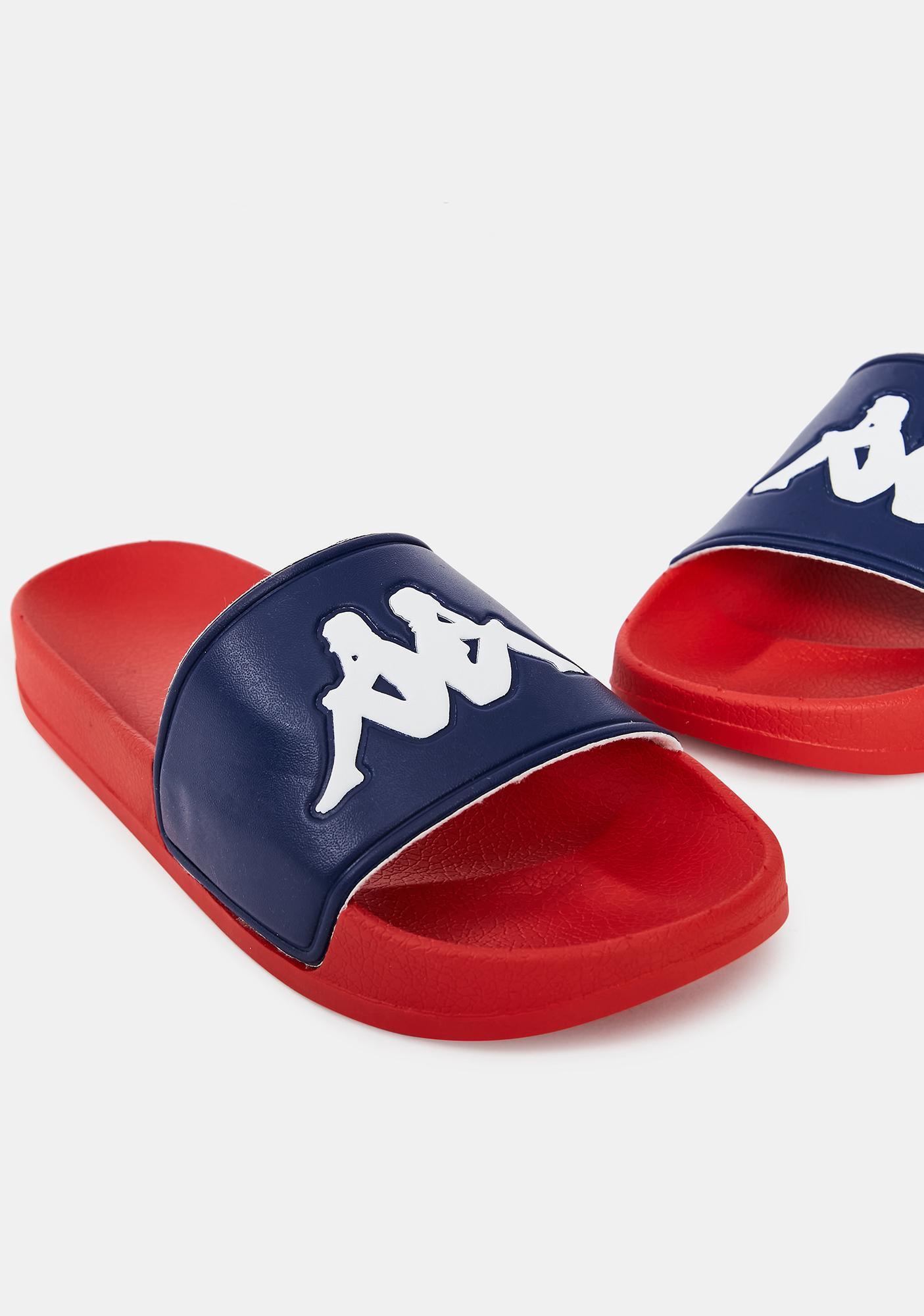Kappa Blue Red Authentic Adam 2 Slides